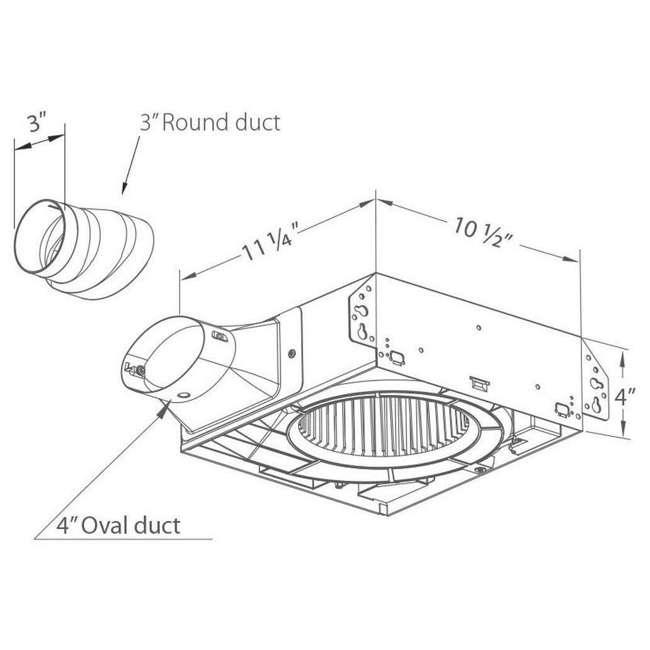 SLM70H Delta Breez 70 CFM 2.0 Sones Ceiling Mount Bathroom Fan with Humidity Sensor 4
