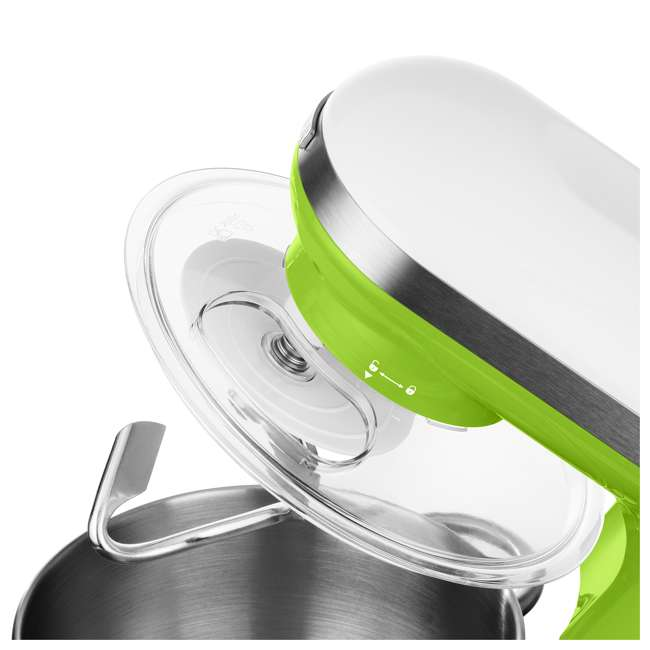 STM3621GR-NAA1 Sencor STM 3620WH 4.2 Quart 6 Speed Food Mixer with Stainless Steel Bowl, Green 8
