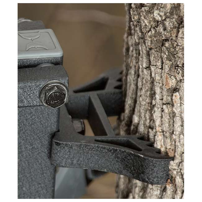 HWK-2000-MF Hawk COMBAT Durable Steel Hang-On Hunting Treestand & Full-Body Safety Harness 3