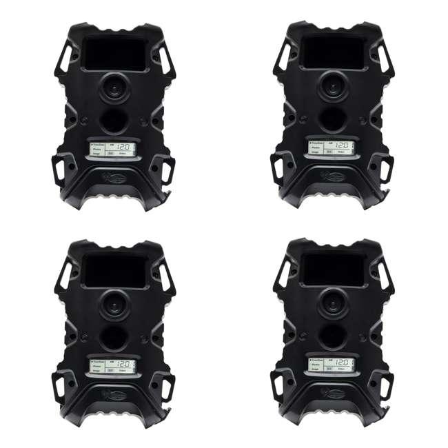 4 x WGI-V12B5A1 Wildgame Innovations Vision 12 Blackout 12MP Video IR Game Camera, Black (4 Pack)