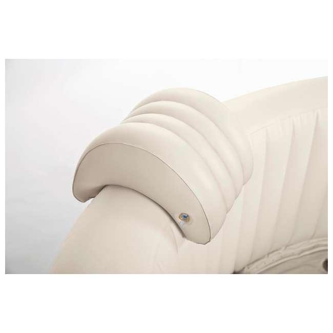 28407E + 28500E + 28501E Intex PureSpa 6-Person Inflatable Hot Tub with Drink Tray & Headrest 8