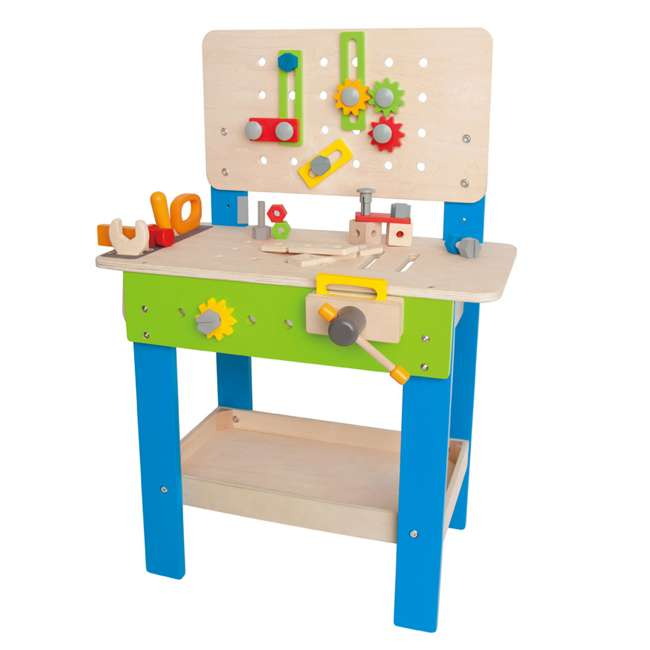 E3000 Hape Wooden Child Master Tool and Workbench Toy Builder Set (For Parts)