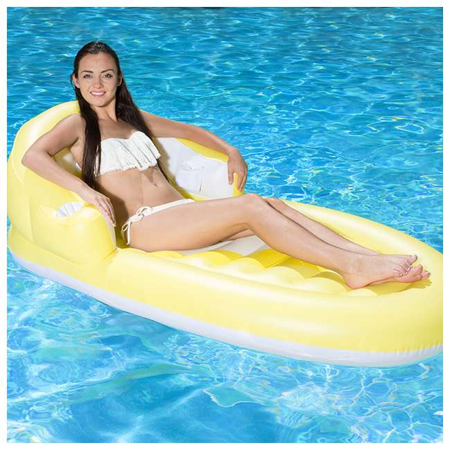 85677 Poolmaster Luxury Lounge Inflatable Swimming Pool Float (2 Pack) 6