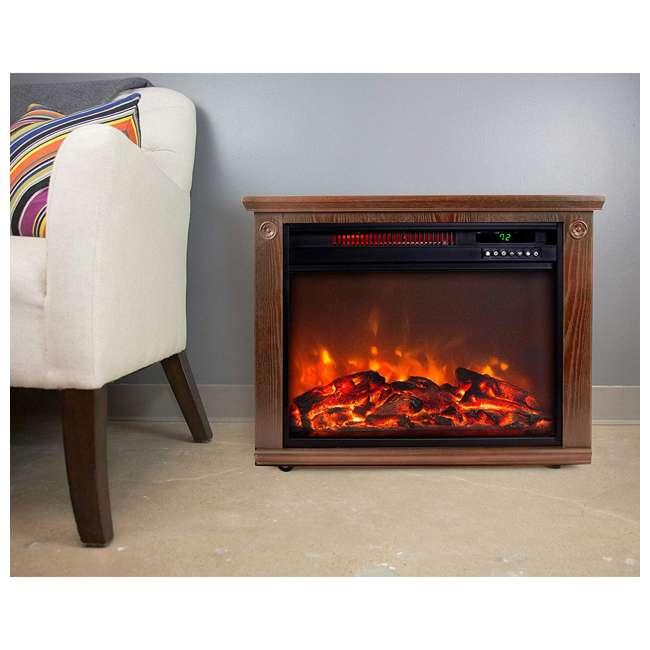 LS-IF1500-DOFP Lifesmart LS-IF1500-DOFP Large Room Quartz Infrared Fireplace Space Heater, Oak 3