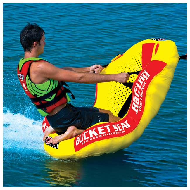 14-1090 WOW Watersports 14-1090 Bucket Seat Single Person Towable Tube with Handles 6