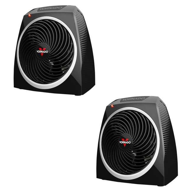 VH5 Vornado VH5 Personal Electric Heater, Black (2 Pack)
