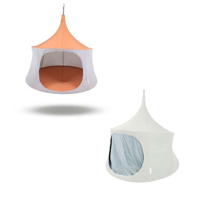 TP1600TC + TP9160 TreePod Cabana 6 Foot Tree Hanging Durable Daybed Tent with Mesh 6 Foot Bug Net