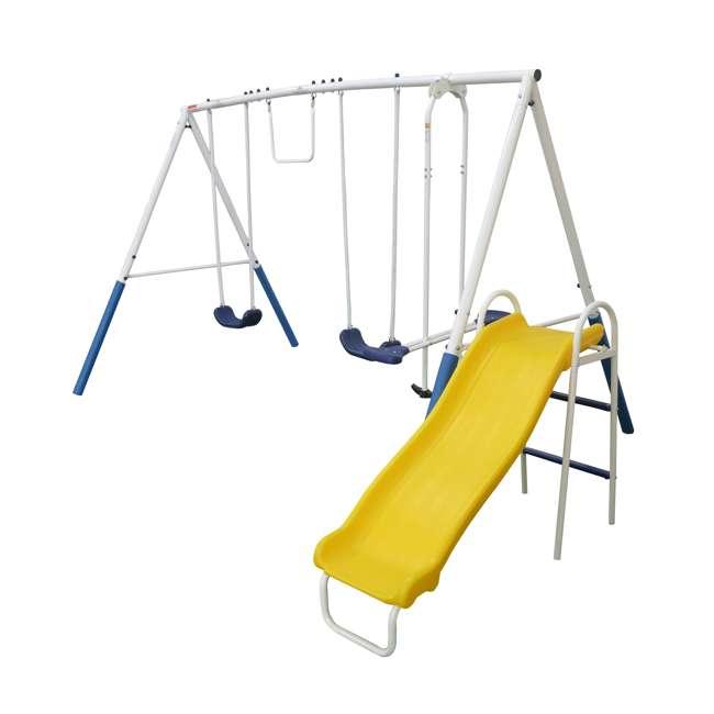 XDP-74303 + XDP-70113 XDP Blue Ridge Play Backyard Swing Set with Slide + Anchor Kit 7