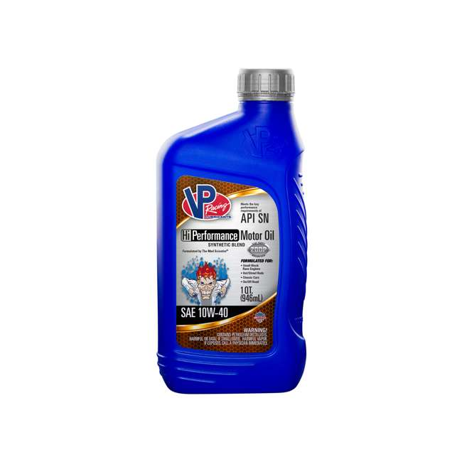2965 VP Racing Fuels 2965 Synthetic Blend Hi Performance Motor Oil, Quart SAE 10W-40