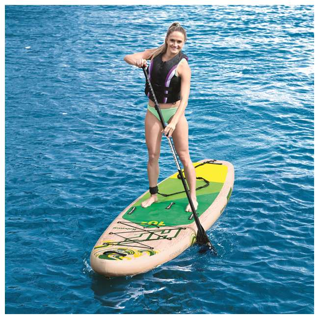 65308E-BW Bestway Hydro-Force Kahawai 10 Foot Inflatable SUP Paddle Board 9