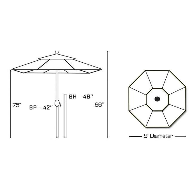 636Mb24-U-B Galtech 9 Foot Aluminum Manual Tilt Sun Shade Patio Umbrella, White (Used) 3
