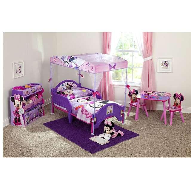 TB84848MN-999 Delta Children Minnie Mouse Wooden Multi Bin Toy Organizer, Pink (2 Pack) 3