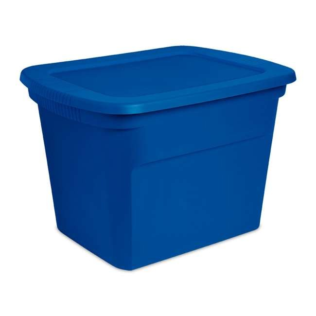 16 x 17311C08-U-A Sterilite 18 Gal Stackable Storage Tote, Blue Morpho (Open Box)(16 Pack)