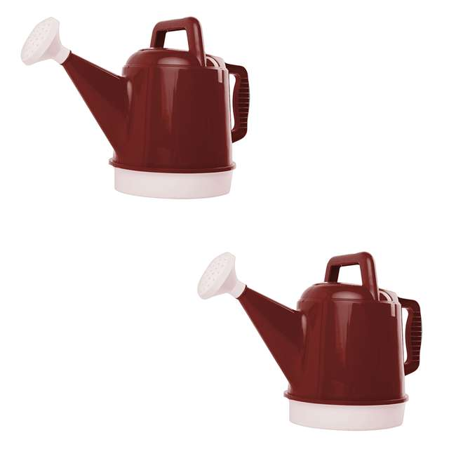 DWC2-12 Bloem 2.5 Gallon Union Red High Impact Removable Nozzle Watering Can (2 Pack)