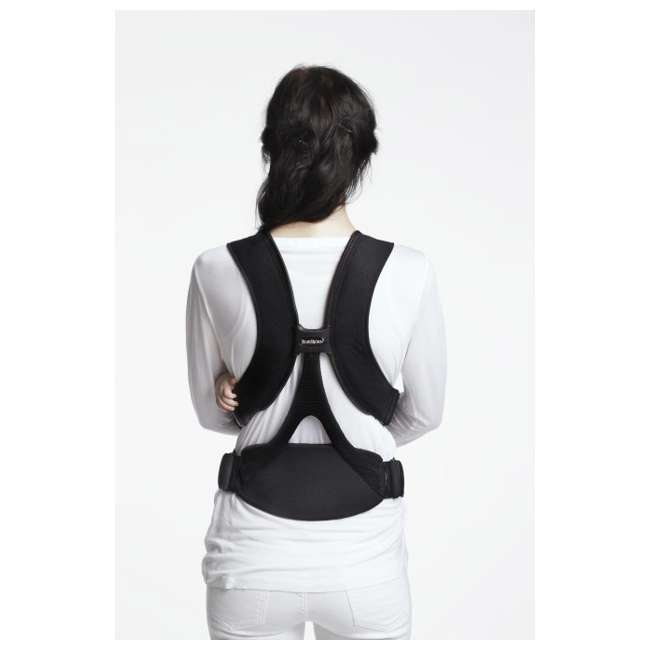 096065US BabyBjorn Baby Carrier Miracle - Black/Silver, Soft Cotton 5