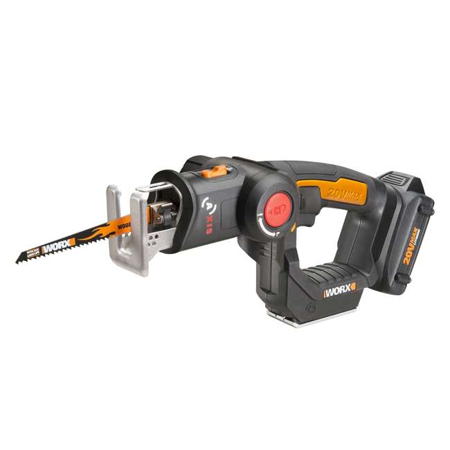 WX550L Worx 20V Axis MaxLithium Battery 2-In-1 Cordless Reciprocating and Jig Saw Tool 2