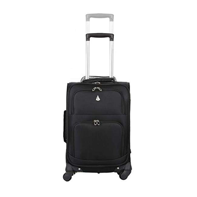 AERO9970 BLACK 21 FBA Aerolite Maximum Allowance Heavy Duty Airline Approved Carryon Suitcase, Black 1