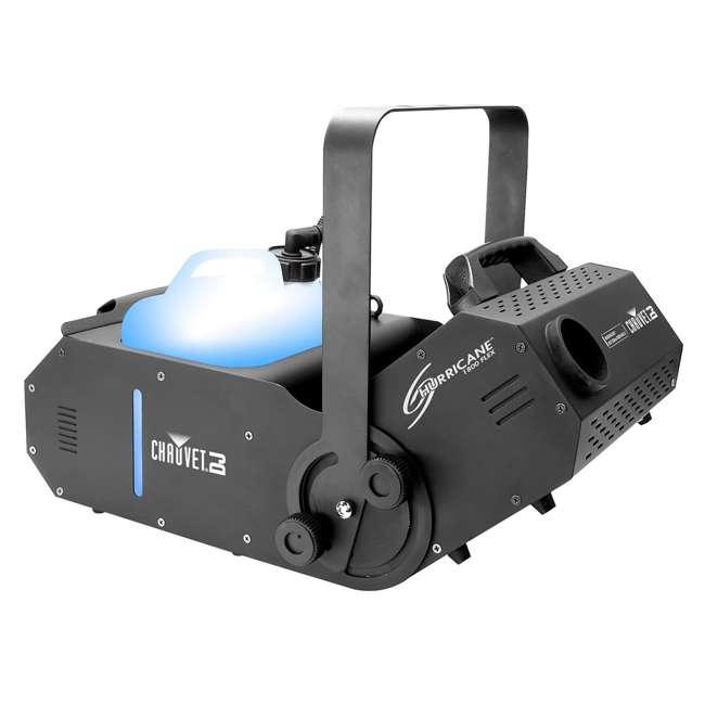 H1800FLEX + 2 x FJU Chauvet H1800FLEX Hurricane Fog/Smoke Pro Machine + Fog Juice Fluid (2 Gallons) 3