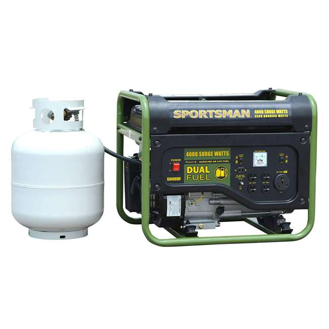 BFT-GEN4000DF Sportsman GEN2000DF 4000 Watt Portable Dual Fuel Generator, Black 1