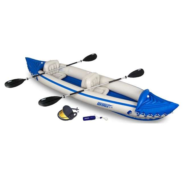 Sea Eagle 365 2 Person Inflatable Kayak Startup Package w/ Paddles