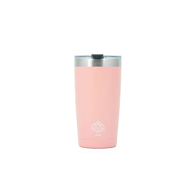 TF20 Pink Tumbler Tru Flask TF20 Insulated 20oz Stainless Steel Tumbler, Rose
