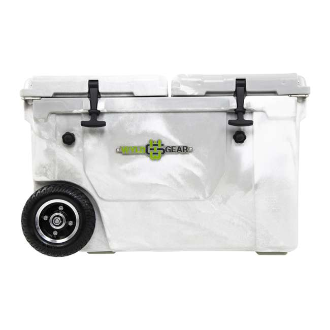 HC50-17W WYLD HC50-17W 50 Quart Dual Compartment Insulated Cooler with Wheels, White/Gray 1