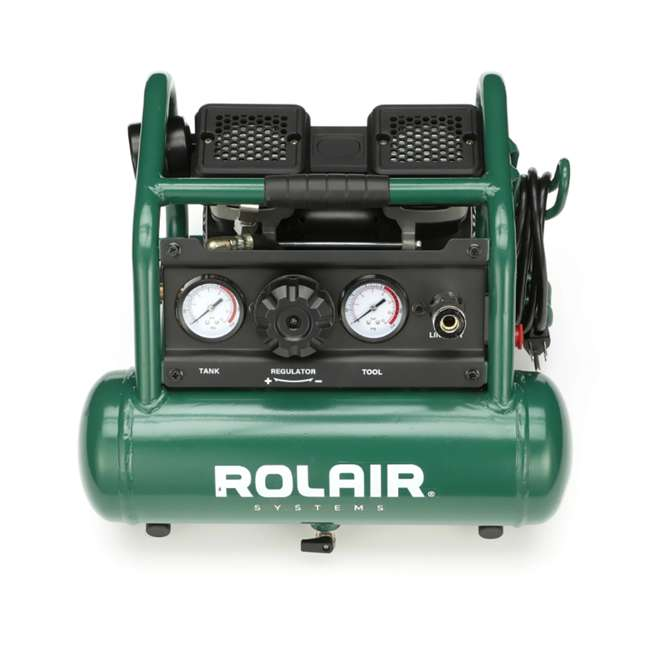 AB5PLUS Rolair AB5PLUS 1 Gallon 0.5HP 90 PSI Quiet Portable Pump Electric Air Compressor 4