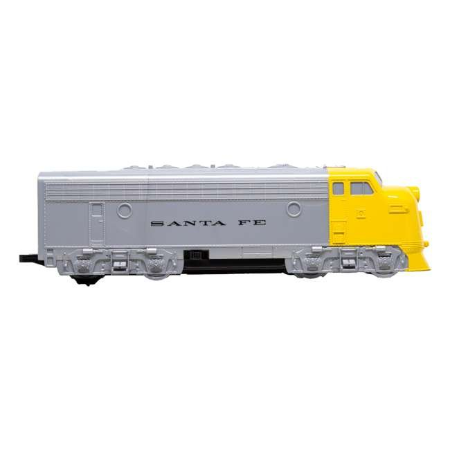 00958 Bachmann Industries 24-Piece HO Scale Battery Operated Rail Express Kid Train Set with Sound, Yellow 1