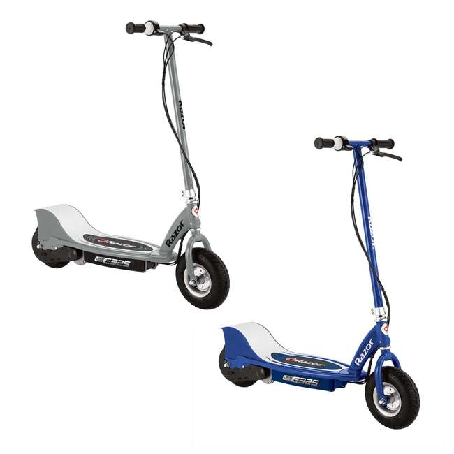 13116312 + 13116341 Razor E325 Electric Motorized Scooters, 1 Silver & 1 Navy