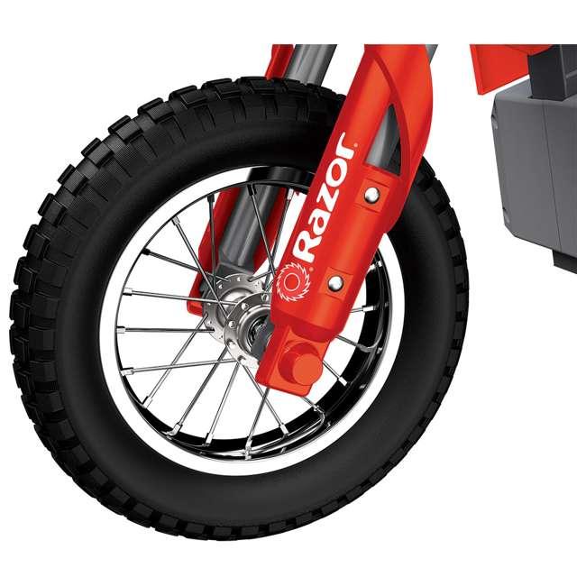 15128095 Razor MX350 Dirt Rocket Kids Electric Motorcycle, Red 7