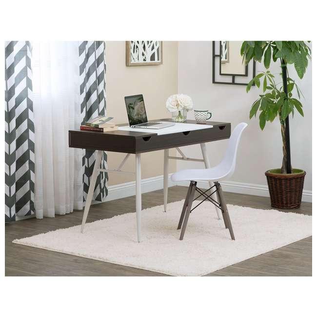 51251 Calico Designs 51251 Nook Desk with Storage Compartments, White/Dark Walnut 5