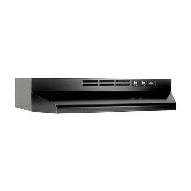 BR-413623 Broan-NuTone 413623 36 Inch Ductless Under Cabinet Range Hood with Light, Black