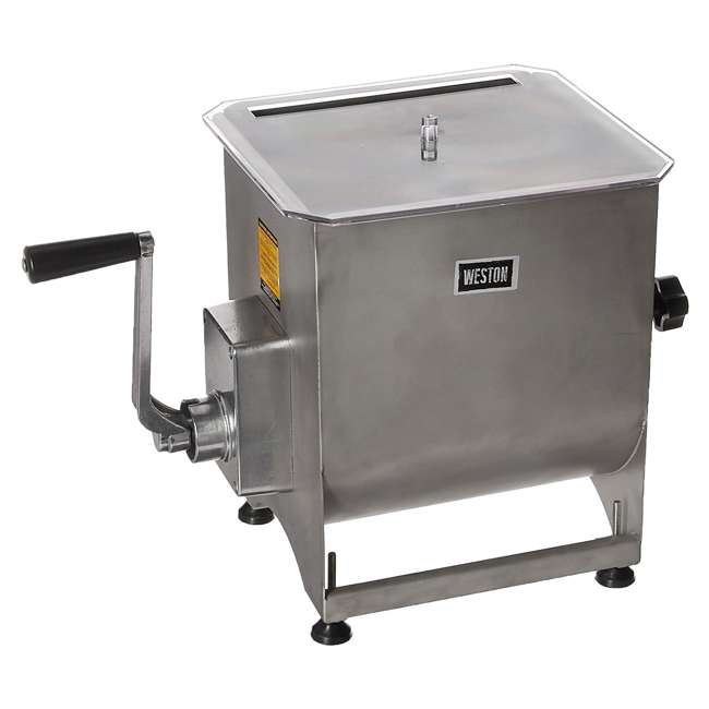 36-2001-W Weston Stainless Steel 44-Pound Capacity Meat Mixer