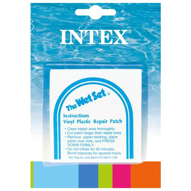 Intex Wet Set Vinyl Plastic Repair Patch 6 Pack 59631ep