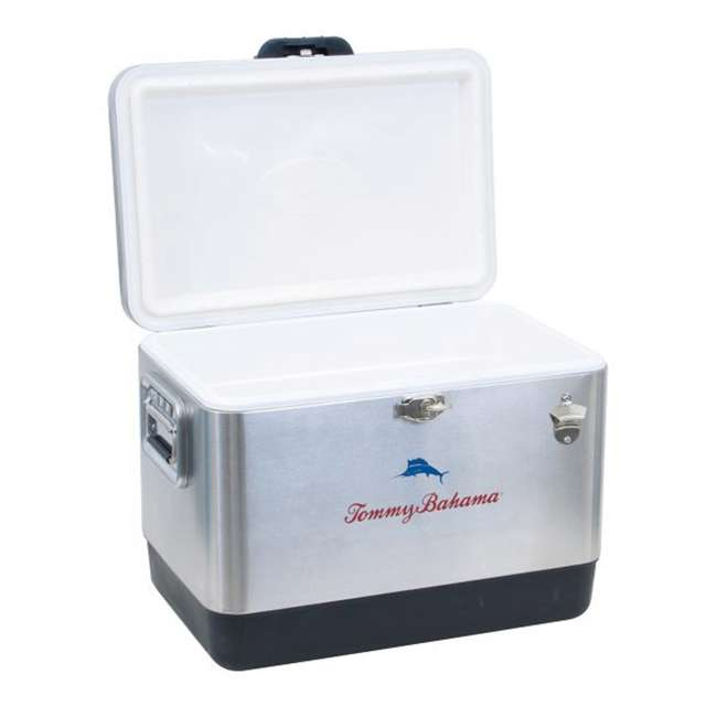 RIOTC54SSTB-U-A Tommy Bahama 54-Quart Stainless Steel Cooler, Silver (Open Box) 1