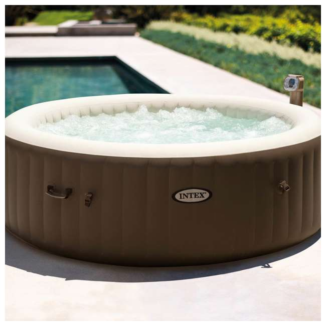 28407VM + 28500E + 2 x 28501E Intex PureSpa 6 Person Inflatable Hot Tub & Cup Holder & Headrest (2 Pack) 2