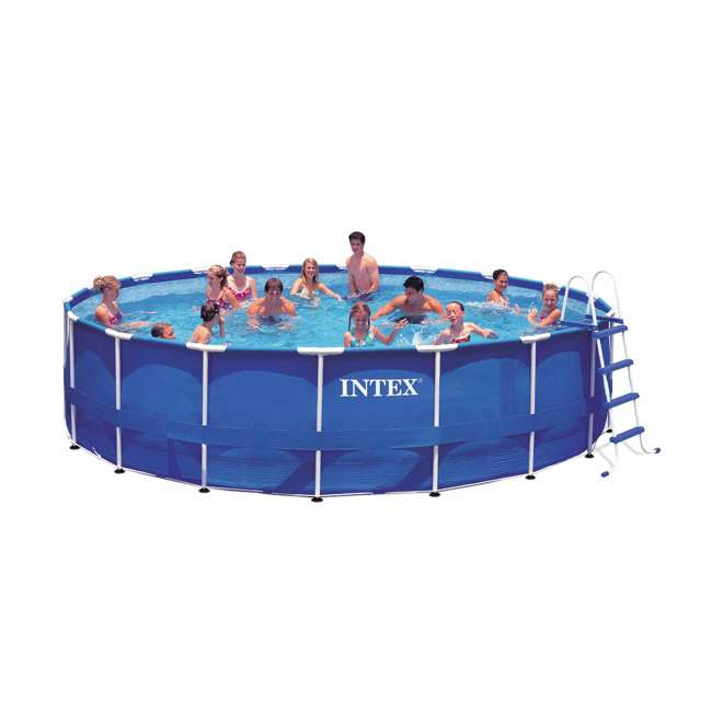 "28253EH-U-A Intex 18'x48"" Above Ground Pool Set w/ Pump Ladder Cover (Open Box) (2 Pack) 1"