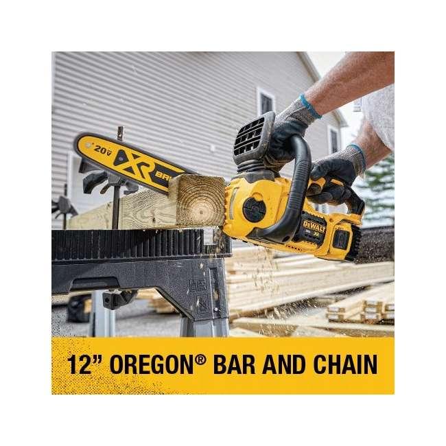 DEWALT-chainsaw-DCCS620B DEWALT 20V MAX Lithium-Ion XR Compact 12 in. Cordless Chainsaw (Tool Only) 1