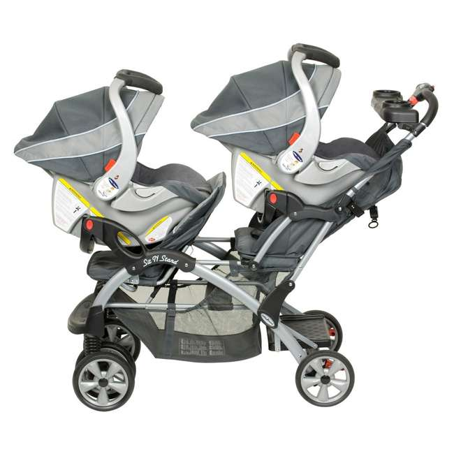 Baby Trend Sit N Stand Double Stroller Grey Mist Ss76052