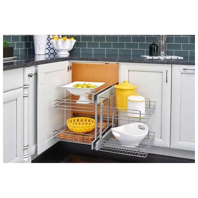 "5PSP-18SC-CR Rev A Shelf 5PSP-18SC-CR 18"" Durable Wire Bottom Blind Corner Cabinet Optimizer 3"