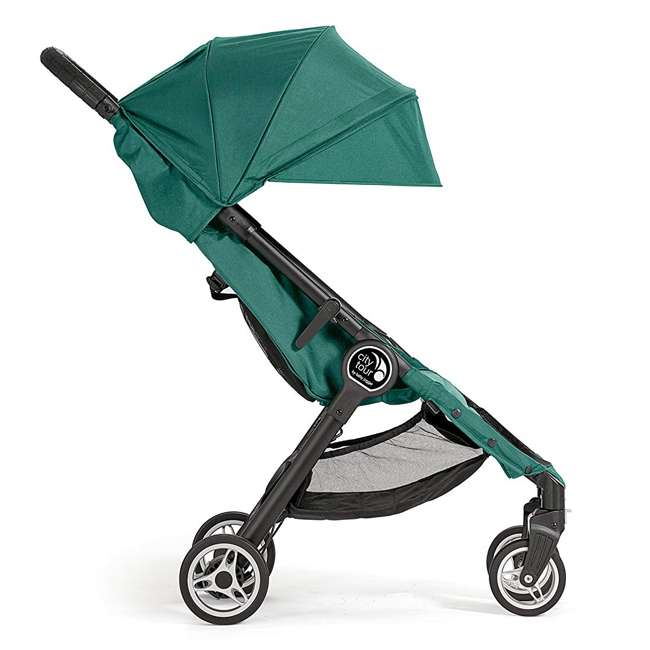 1980173 Baby Jogger City Tour Lightweight Compact Travel Stroller with Carry Bag, Green 1
