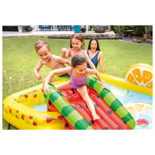 57158EP Intex 57158EP Fun'N Fruity Outdoor Inflatable Kiddie Pool Play Center with Slide 4