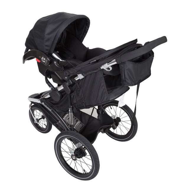 JG35A55A Baby Trend Sleek Chrome Frame Dual Suspension Falcon Jogger Stroller, Black 2
