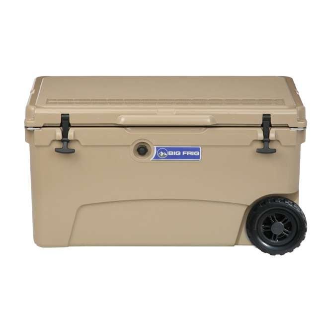 BFDB70WS-SD Big Frig Denali 70 Quart Insulated Wheeled Camping Cooler with Accessories, Sand 1