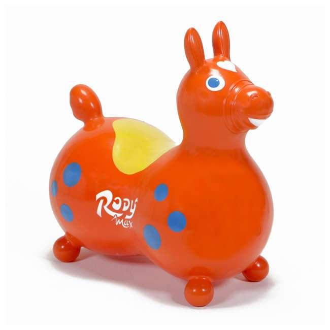 KET-8005 Gymnic 8005 Rody Horse Ride-On Vinyl Toddler Rocking Toy, Orange
