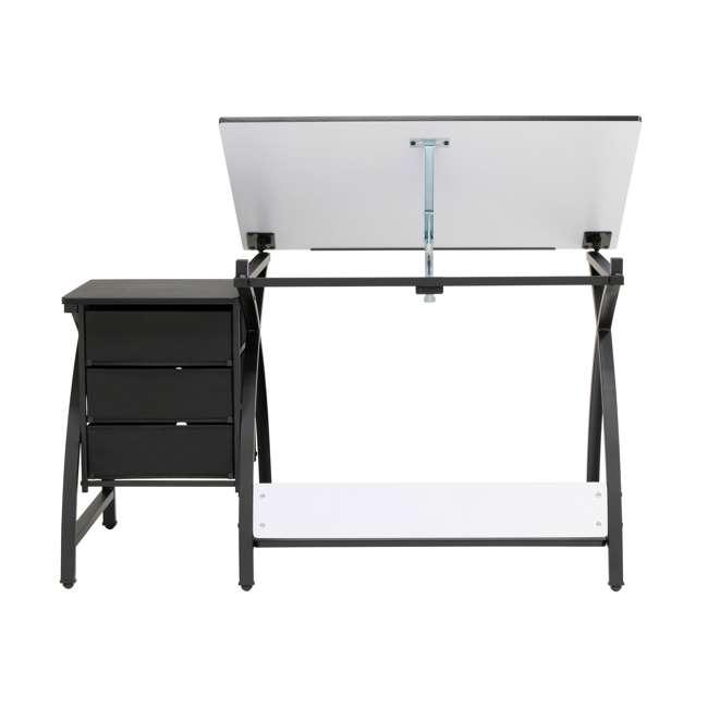 STDN-38015 Studio Designs Venus 2-Piece Craft Adjustable Tabletop w/ Storage & Stool, Black 6