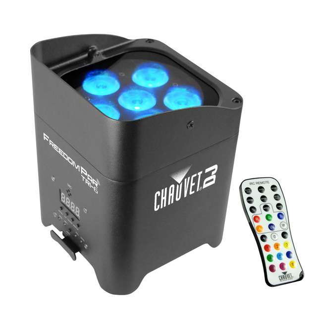 FREEDOMPAR-TRI6-OB Chauvet DJ Freedom Par Tri-6 Wireless Light Effect w/ Remote