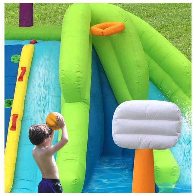 MTI-90717 RipTide Triple Fun Inflatable PVC Water Park with 3 Slides & Obstacle Course 8