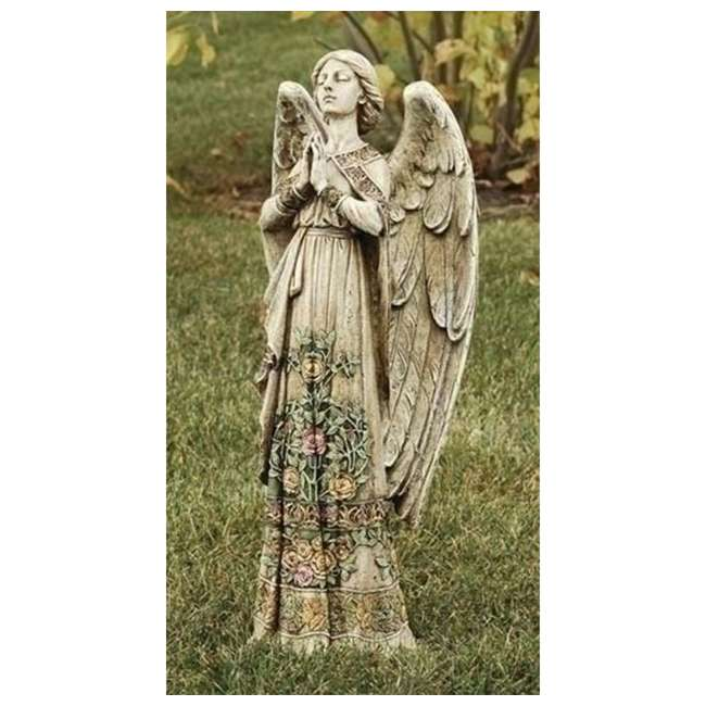 RM-29011 Roman Praying Angel Garden Statue Rose Design 1