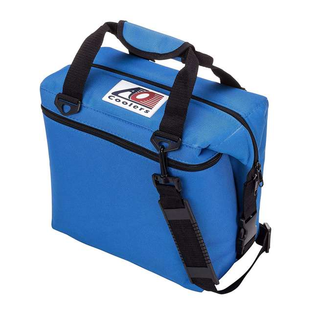 AO24RB AO Coolers AO24CH 24 Can Soft Cooler with High-Density Insulation, Royal Blue